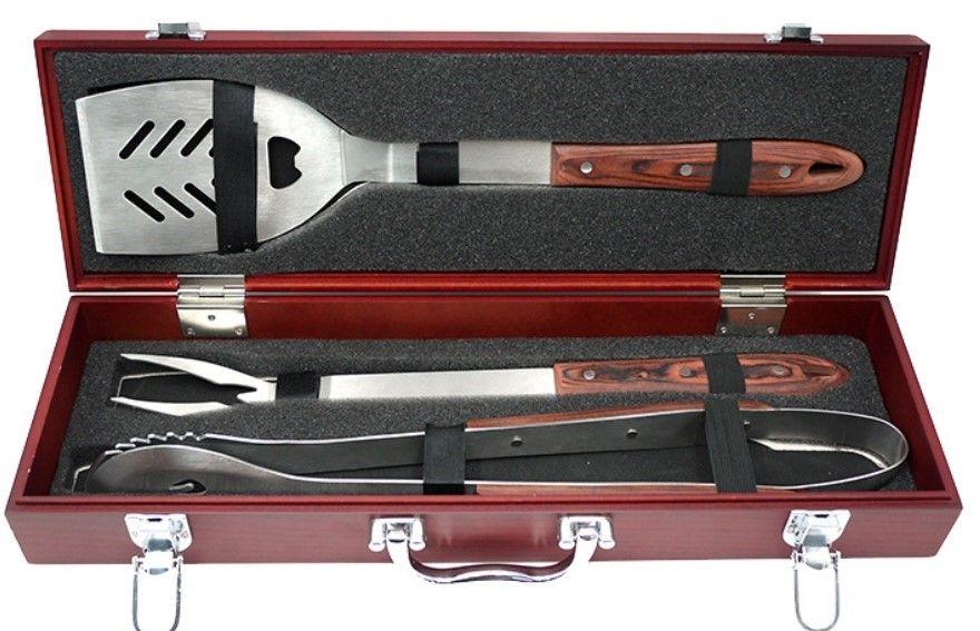 rosewood bbq set box