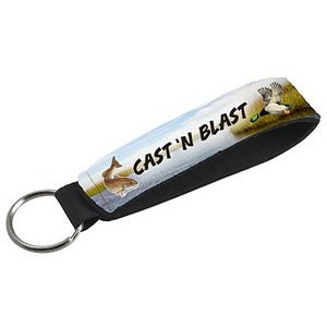 Full Color Single Neoprene Wristband with 26mm Key Ring